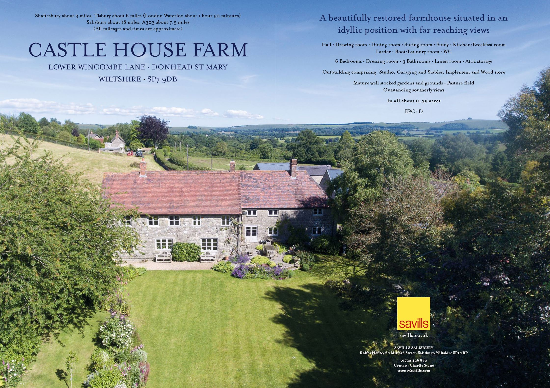 Restored Wiltshire Farmhouse with JD Kitchen Goes on Sale